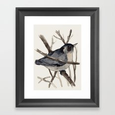 Grey Birdy 2 Framed Art Print
