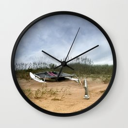 Beached Catamaran Wall Clock