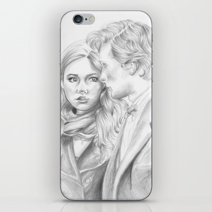 the doctor & amy iPhone Skin