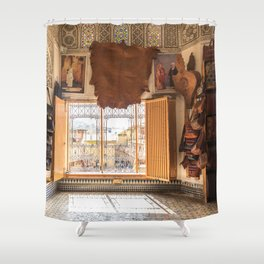The Old Leather Shop Shower Curtain