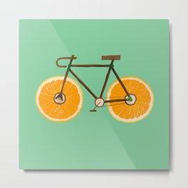 Orange bike Metal Print