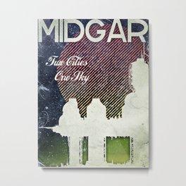 Final Fantasy VII - Midgar Tribute Poster *Distressed* Metal Print