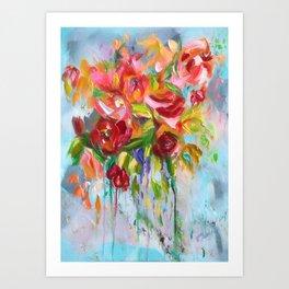 Pink Abstract - I Art Print