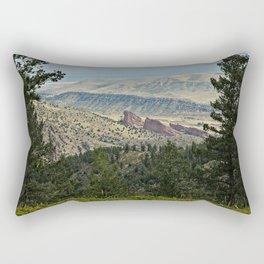 Red Rocks amphitheater Rectangular Pillow