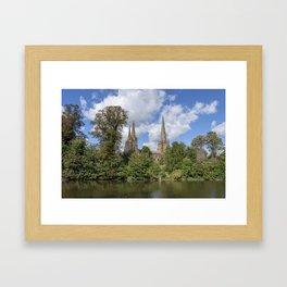 Lichfield spires Framed Art Print