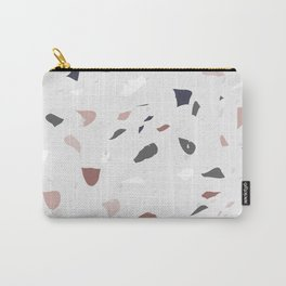 Blush and Grey Terrazzo Carry-All Pouch