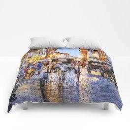 Rush Hour in Vigan City Comforters
