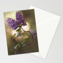 Violet lilac flowers Stationery Cards