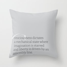 a letter to oneself : liberty Throw Pillow