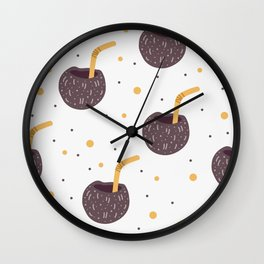 Coconut drink Wall Clock