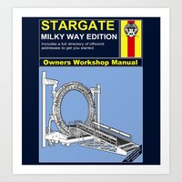 stargate Art Prints featuring Stargate by Paul Elder
