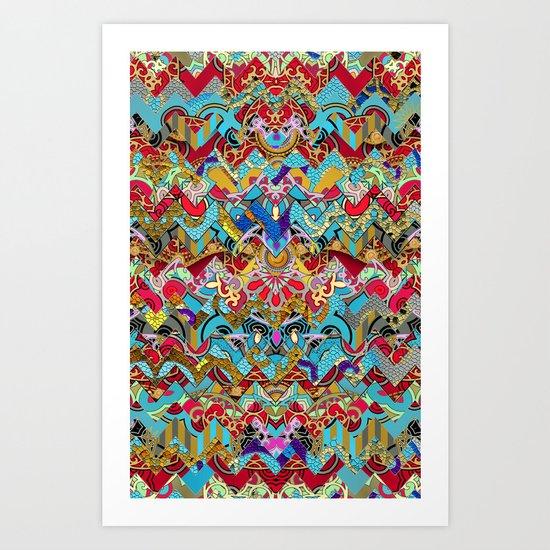 Wild Chevron- Indian Style Art Print