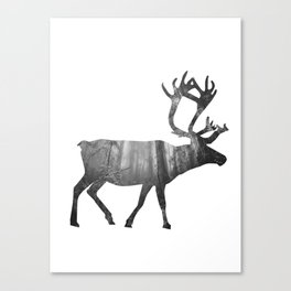 Moose Silhouette | Forest Photography Canvas Print