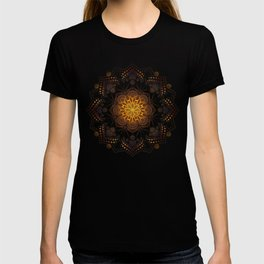 """Warm light Moroccan lantern Mandala"" T-shirt"
