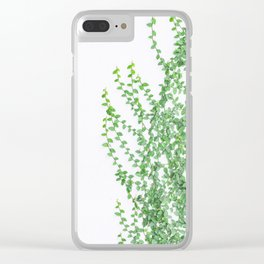 Green creepers climbing the wall Clear iPhone Case