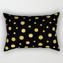 Elegant polka dots - Black Gold Rectangular Pillow