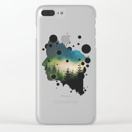 Face Of The Forest Clear iPhone Case