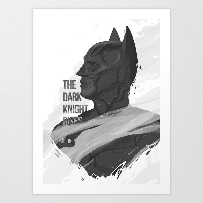 THE DARK KNIGHT RISES Art Print
