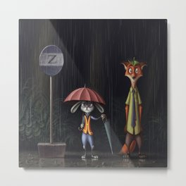 my neighbor Zootopia Metal Print