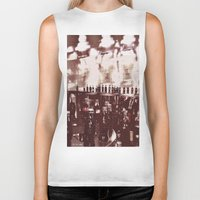 it crowd Biker Tanks featuring Crowd by YM_Art by Yv✿n / aka Yanieck Mariani