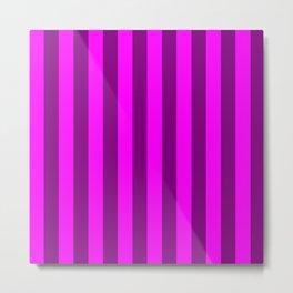 stripes purple pattern Metal Print
