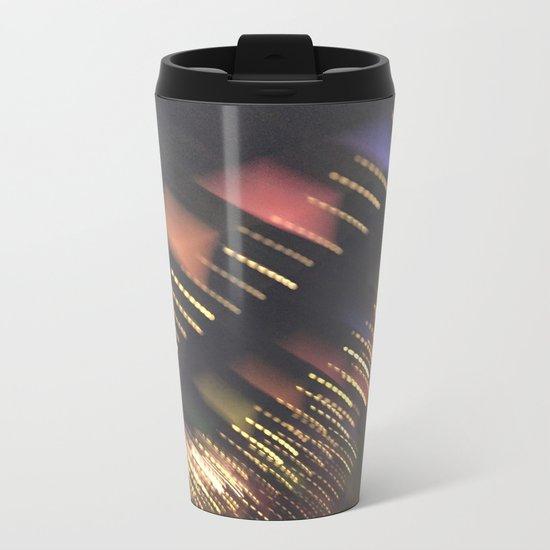 Lights and Pennants Metal Travel Mug