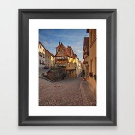 Rothenburg ob der Tauber Framed Art Print