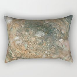 Nest and Feathers Rectangular Pillow