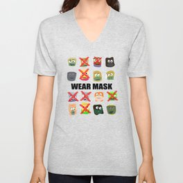 Wear mask Unisex V-Neck