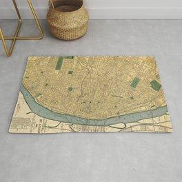 1895 Vintage Map of St. Louis, Missouri Rug