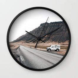 Hitting an icelandic Road Wall Clock