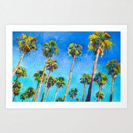 California Beach Palm Trees Art Print