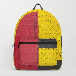 Red Grey Yellow Backpack