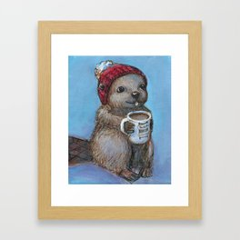 Canadian Beaver Framed Art Print