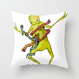The monsters within  Throw Pillow