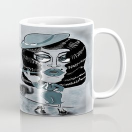 Femme Fatale and the Unknown Man, film noir Coffee Mug
