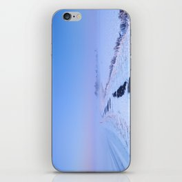 III -  Lake and dike at sunrise in winter in The Netherlands iPhone Skin