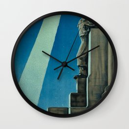 ENIT Trieste Vintage Travel Poster Wall Clock