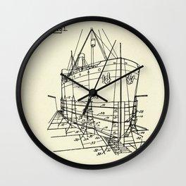Ship Scaffold-1924 Wall Clock