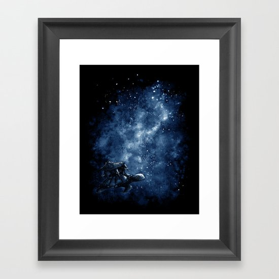 Cosmic Turtle Framed Art Print