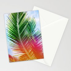 Neon Rainbow palm Stationery Cards