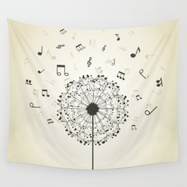 Music a dandelion Wall Tapestry