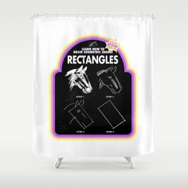 Learn to Draw Rectangles Shower Curtain