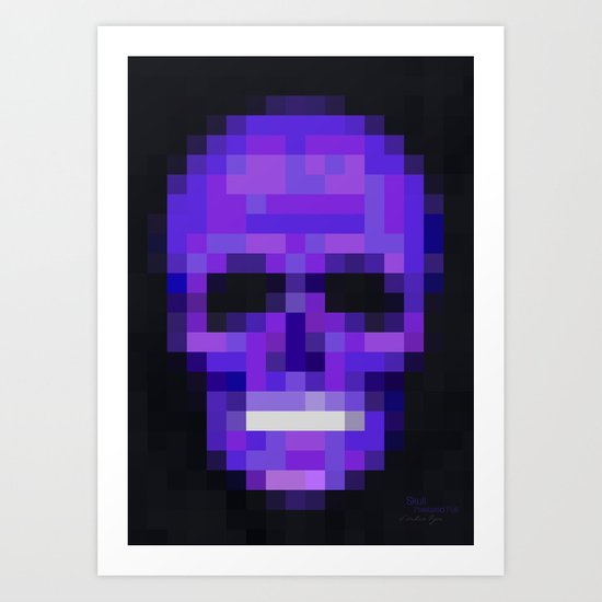 Skull Pixelated Full Art Print