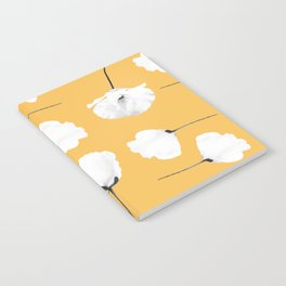 Poppies on mustard Notebook