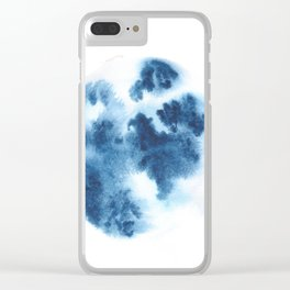 Blue Blob May 18 Clear iPhone Case