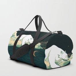 Polar Bear and the Moon Duffle Bag