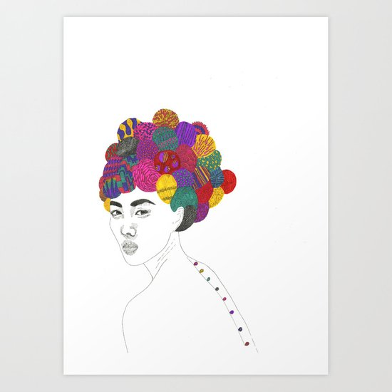 Fashion Illustration 3  Art Print