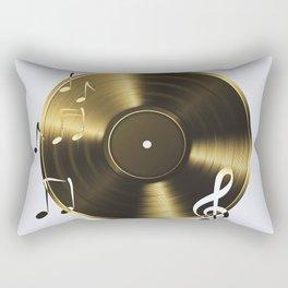 Gold LP Vinyl Record Rectangular Pillow