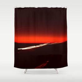 Night Lights Texas Drive-by Shower Curtain